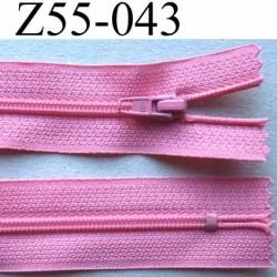 fermeture zip à glissière longueur 55 cm couleur rose non séparable largeur 2.5 cm glissière nylon largeur 4 mm