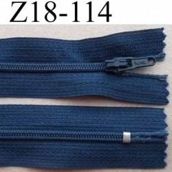 fermeture zip à glissière longueur 18 cm couleur bleu non séparable largeur 2.5 cm glissière nylon largeur du zip 4 mm