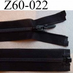 fermeture zip à glissière invisible séparable longueur 60 cm couleur noir largeur 2.5 cm largeur zip nylon 4.2 mm