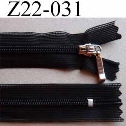 fermeture zip à glissière invisible non séparable longueur 22 cm couleur noir  zip nylon largeur 2.2 cm largeur glissière 4.2 mm