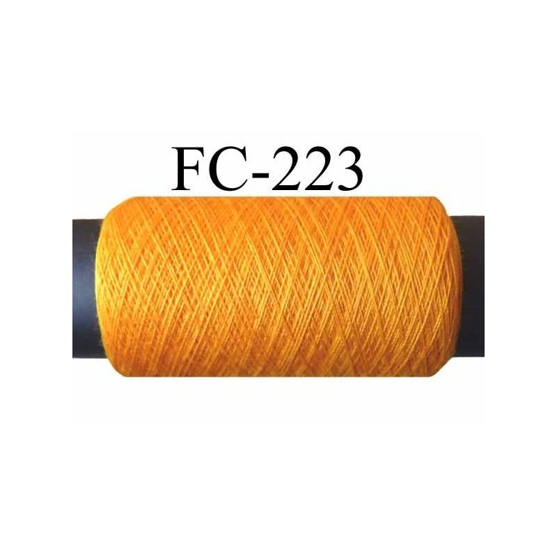 bobine de fil n° 120 polyester couleur jaune orangé or longueur de ...