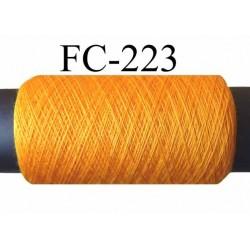 bobine de fil n° 120 polyester couleur jaune orangé or longueur de la bobine 200 mètres bobiné en France