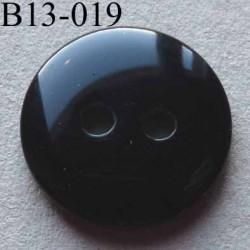 bouton diamètre 13 mm  couleur noir brillant 2 trous diamètre 13 mm