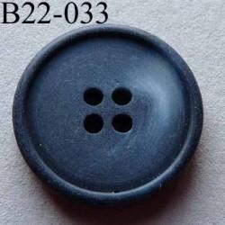 bouton diamètre 22 mm  couleur anthracite bleuté marbré  4 trous diamètre 22 mm