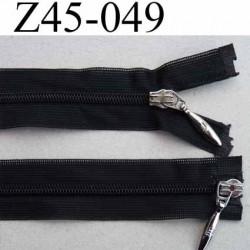 fermeture zip invisible double curseur longueur 45 cm couleur noir non séparable largeur 2.5 cm glissière nylon largeur 4.2 mm