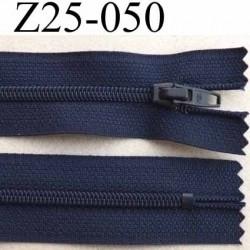 fermeture zip à glissière longueur 25 cm couleur bleu non séparable largeur 2.5 cm glissière nylon largeur 4 mm