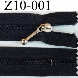 fermeture zip à glissière longueur 10 cm couleur noir zip nylon