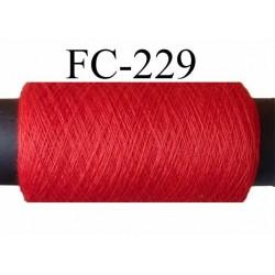 bobine de fil n° 120 polyester couleur rouge longueur de la bobine 200 mètres bobiné en France