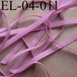 élastique plat et fin polyamide élasthane largeur 4 mm couleur vieux rose prix au mètre