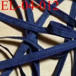 élastique plat et fin polyamide élasthane largeur 4 mm couleur bleu marine prix au mètre