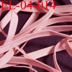 élastique plat et fin polyamide élasthane largeur 4 mm couleur rose chair prix au mètre