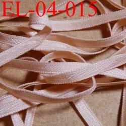 élastique plat et fin polyamide élasthane largeur 4 mm couleur pétale chair prix au mètre