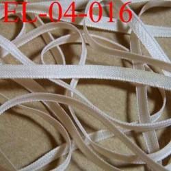 élastique plat et fin polyamide élasthane largeur 4 mm couleur sable core  prix au mètre