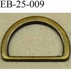 Boucle etrier anneau demi rond métal couleur bronze largeur 2,6 cm intérieur 20,5 mm idéal pour sangle 20 mm hauteur 18 mm