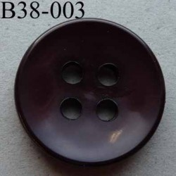 bouton 38 mm  couleur prune foncé  4 gros trous (diamètre 6 millimètres) épaisseur 5 mm