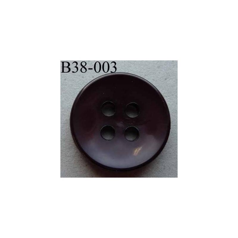 Bouton 38 mm couleur prune fonc 4 gros trous diam tre 6 - Couleur prune fonce ...