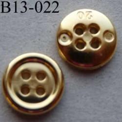 bouton 13 mm pvc couleur doré 4 trous diamètre 13 millimètres