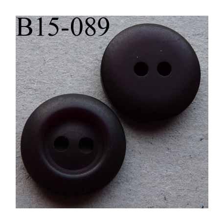 bouton 15 mm couleur prune tr s fonc 2 trous diam tre 15 millim tres mercerie extra. Black Bedroom Furniture Sets. Home Design Ideas