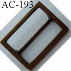 Boucle etrier rectangle métal couleur laiton largeur extérieur 6 cm largeur intérieur 5 cm hauteur 4 cm