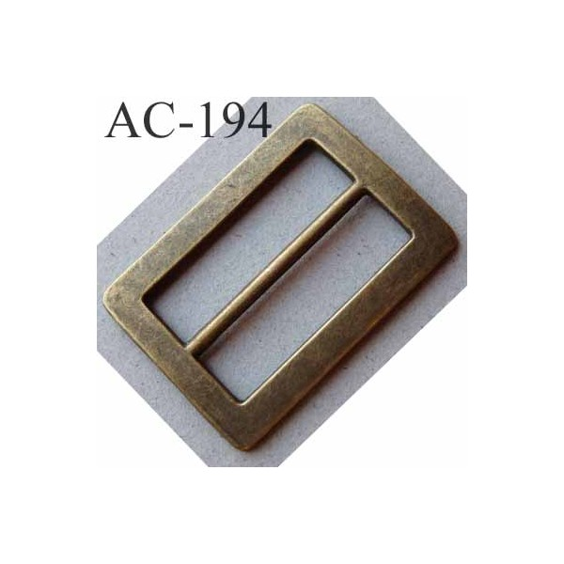 Boucle etrier rectangle métal couleur laiton vieilli largeur extérieur 5 cm  largeur intérieur 4 cm hauteur 9e325f5e980