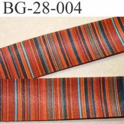 biais galon ruban satin grande marque SR haut de gamme couleur rayures multicolor vraiment superbe largeur 28 mm prix au mètre