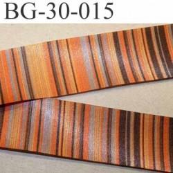 biais galon ruban satin grande marque SR haut de gamme couleur rayures multicolor vraiment superbe largeur 30 mm prix au mètre