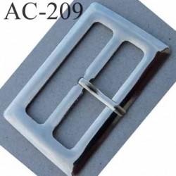 Boucle etrier rectangle métal couleur chrome avec ardillon 2.5 cm largeur extérieur 6.5 cm largeur intérieur 5 cm hauteur 4 cm