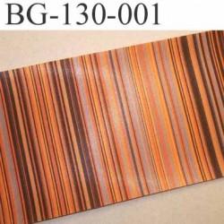 biais galon ruban satin grande marque SR haut de gamme couleur rayures multicolor vraiment superbe largeur 130 mm prix au mètre