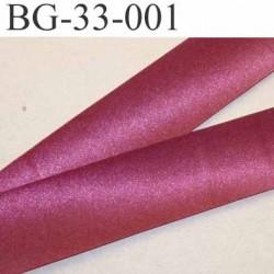 biais galon ruban satin couleur bordeaux brillant  largeur 33 mm prix au mètre