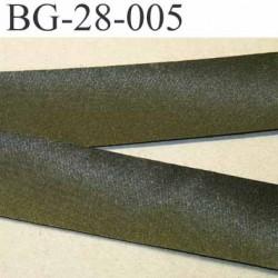 biais galon ruban satin couleur vert kaki brillant  largeur 28 mm prix mètre