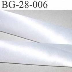 biais galon ruban satin couleur blanc brillant  largeur 28 mm prix mètre