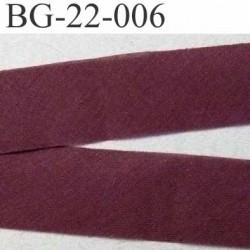 biais à plier couleur bordeau largeur 22 mm poly coton prix au mètre