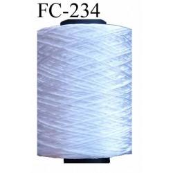 bobine cone de fil pour Encolure couleur blanc brillant très beau diamètre 0.8 mm longueur de 300 mètres bobiné en France