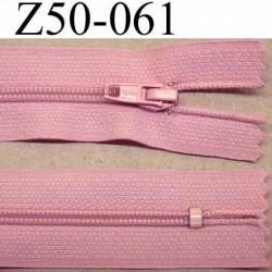 fermeture zip à glissière longueur 50 cm couleur rose non séparable largeur 2.5 cm glissière nylon largeur 4.2 mm