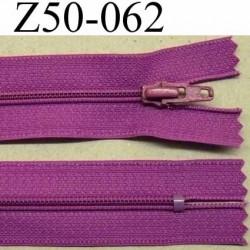 fermeture zip à glissière longueur 50 cm couleur violet non séparable largeur 2.5 cm glissière nylon largeur 4.2 mm