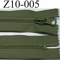fermeture zip à glissière 10 cm  couleur  vert non séparable zip nylon