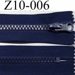 fermeture zip 10 cm couleur bleu non séparable  zip nylon largeur 3 cm et largeur du zip 5 mm