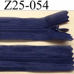 fermeture zip invisible longueur 25 cm couleur bleu non séparable largeur 2.6 cm glissière nylon largeur 4.2 mm