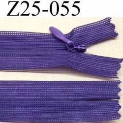 fermeture zip invisible longueur 25 cm couleur violet non séparable largeur 2.2 cm glissière nylon largeur 4.2 mm