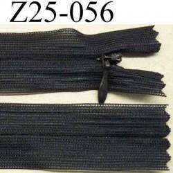 fermeture zip invisible longueur 25 cm couleur bleu tirant sur l'anthracite non séparable largeur 2.5 cm glissière L 4.2 mm