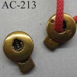 arrêt cordon stop cordon métal rond plat couleur bronze 19 mm vendu à l'unité