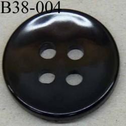 bouton 38 mm  couleur noir 4 gros trous (diamètre 6 millimètres) épaisseur 5 mm