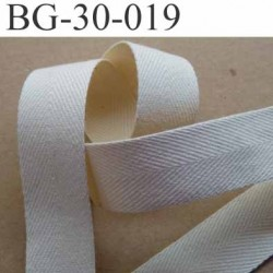 biais sergé  galon ruban 100 % coton superbe   couleur écru  largeur 30 mm prix au mètre