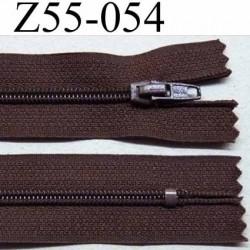 fermeture zip à glissière longueur 55 cm couleur marron non séparable largeur 2.5 cm glissière nylon largeur 4 mm