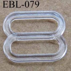 boucle de réglage réglette plastique transparent pour soutien gorge largeur totale13 mm largeur intérieur 10 mm prix à l'unité