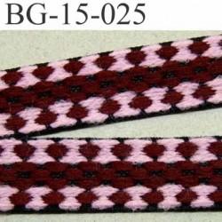 galon ruban  couleur noir rose et bordeau souple et doux très solide largeur 15 mm prix au mètres