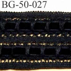galon ruban dentelle souple largeur 50 mm couleur noir avec ruban velours prix au mètre