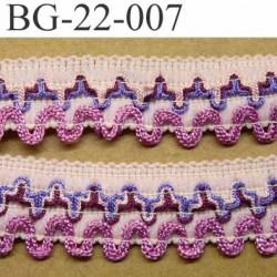 Elastique gallon largeur 22 mm couleur rose violet bordeau et fushia prix au mètre