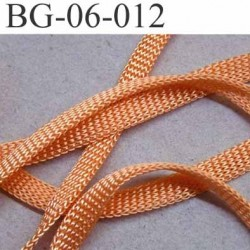 gallon cordon ruban a plat largeur 6 mm épaisseur 1.3 mm couleur abricot saumon lumineux très solide prix au mètre