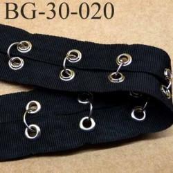 gallon ruban couleur noir superbe avec oeillets plus anneaux en métal chromé largeur 30 mm prix au mètre